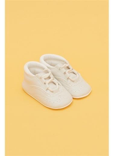 BG Baby Erkek Bebek Ekru Patik Ekru
